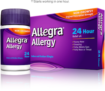Save $4.00 off (1) Allegra Allergy Relief Printable Coupon