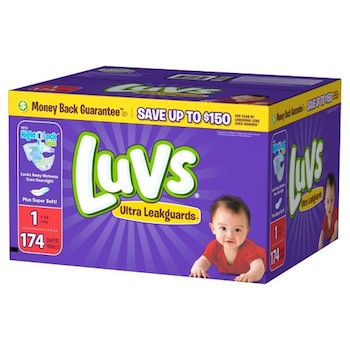 Save $0.50 off (1) Luvs Baby Diapers Printable Coupon