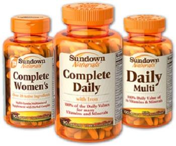 Save $1.00 off (1) Sundown Naturals Vitamins Printable Coupon