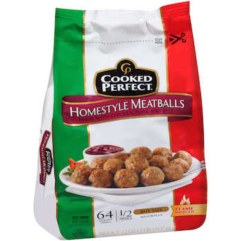 Save 0.75 off (1) Cooked Perfect Meatballs Coupon