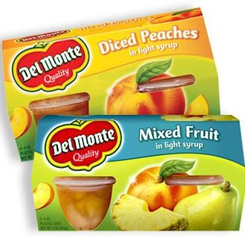 Save $1.00 off (2) Del Monte Fruit Cups Printable Coupon