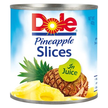 Save $1.00 off (2) Dole Canned Pineapple Printable Coupon