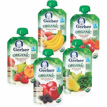 image regarding Gerber Printable Coupons identified as Help you save $1.00 off (4) Gerber Foodstuff Pouches Printable Coupon
