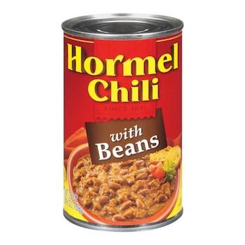 Save $0.55 off any (2) Hormel Chili Printable Coupon