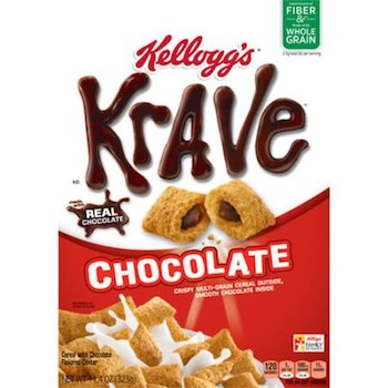 Save $1.00 off (2) Kellogg's Krave Cereal Printable Coupon