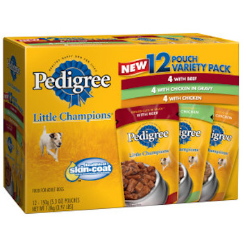 2 Off Pedigree Wet Dog Food Pouches With Printable Coupon
