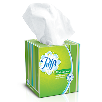 Save 0.25 off (1) Puffs Facial Tissue Printable Coupon