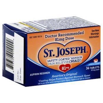 Save $1.00 off (1) St. Joseph Low-Dose Aspirin Printable Coupon