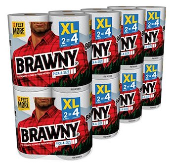 picture relating to Brawny Printable Coupons named Conserve $4 off Brawny Paper Towels with Amazon Electronic Coupon