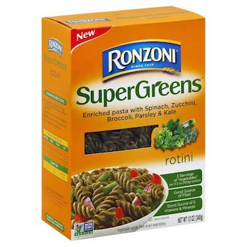 $1 off Ronzoni Supergreens Pasta with Printable Coupon
