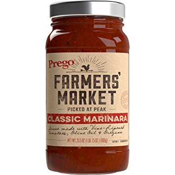 Save $1.00 off (1) Prego Farmers' Market Sauce Coupon