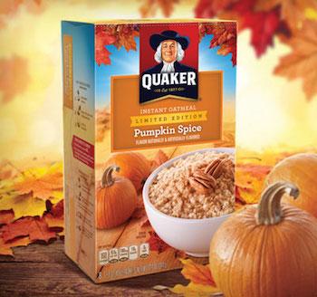 Save $1 off (2) Quaker Oats Oatmeal Pumpkin Spice Coupon
