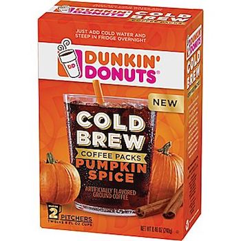 Save $1.50 off (1) Dunkin Donuts Cold Brew Coffee Printable Coupon