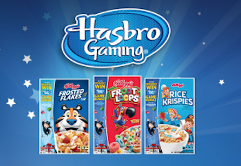 graphic relating to Hasbro Printable Coupon identify Help save $2.50 off Hasbro Game titles WYB (3) Kelloggs Cereals