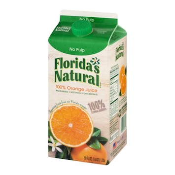 Save $1.00 off (2) Florida's Natural Orange Juice Printable Coupon