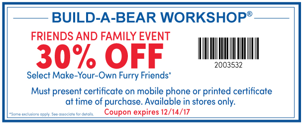 save 30 at build a bear workshop with new printable coupon