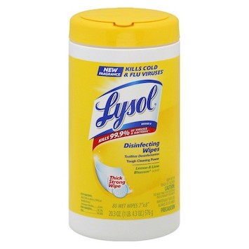 Save $0.50 off (1) Lysol Disinfecting Wipes Printable Coupon