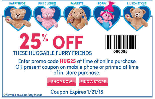 save 25 off select build a bears with printable coupon 2018