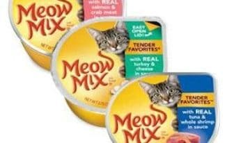 Save $1.00 off (6) Meow Mix Wet Cat Foods Printable Coupon