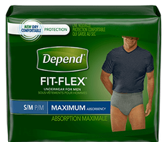 $2 off any (1) Depend Package Printable Coupon