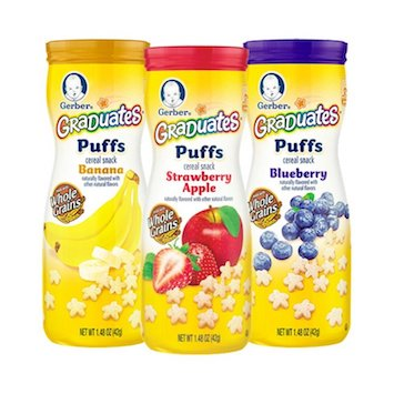Save $2.00 off (4) Gerber Baby Snacks Printable Coupon