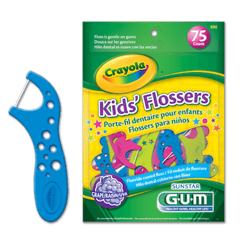 picture regarding Crayola Printable Coupons known as Conserve $0.60 off (1) GUM Crayola Small children Flossers Coupon
