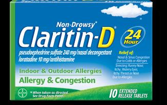 Save $4.00 off (1) Claritin D Non-Drowsy Printable Coupon