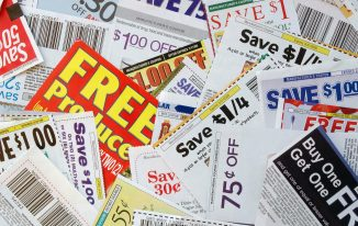 coupons spread out