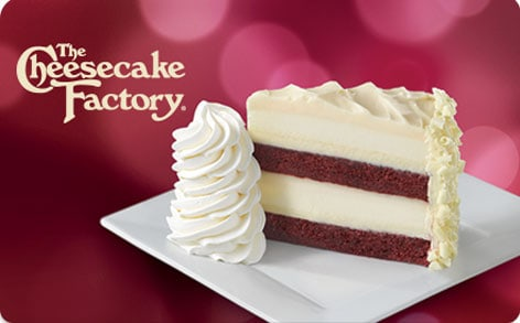 FREE (2) Slices of Cheesecake from Cheescake Factory