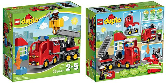 LEGO DUPLO Town Fire Truck Building Kit ONLY $15.99!