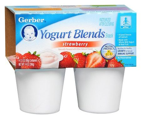 $1.25 off (2) Gerber Yogurt Blends Printable Coupon