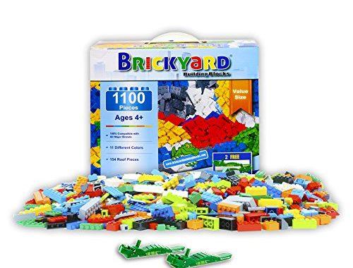 SAVE 45% on Brickyard Building Blocks Building Bricks (1,100 Pieces)