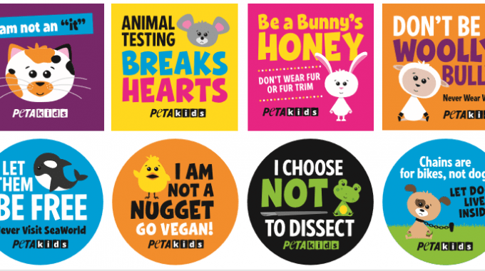 Get FREE PETA Kids Animal Stickers