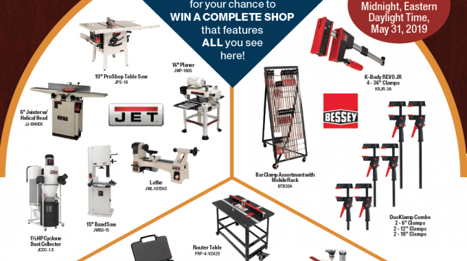Join the 2019 Workshop Makeover Giveaway | Sweepstakes Entry