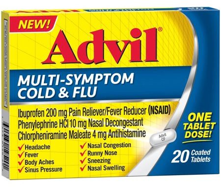 Save $3.00 off (1) Advil Multi-Symptom Cold & Flu Coupon