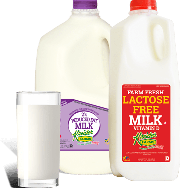 Save $0.50 off (1) Kreider Farms Lactose Free Milk Coupon