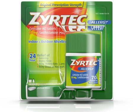 Save $6.00 off (1) Adult Zyrtec 70ct Printable Coupon