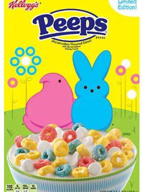 Buy (3) Get (1) FREE Kellogg's Peeps Cereal Printable Coupons