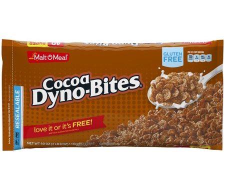 Save $0.50 off (1) Malt O Meal Cocoa Dyno Bites Printable Coupon