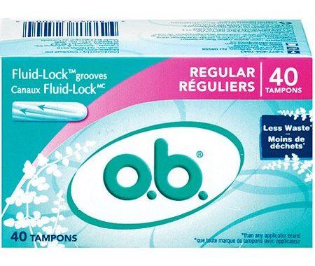 Save $2.00 off (1) O.B. Tampons Printable Coupon