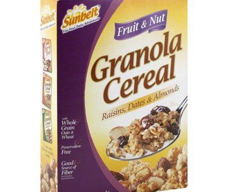 Save $0.75 off (1) Sunbelt Granola Cereal Printable Coupon