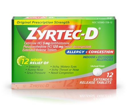 Save $4.00 off (1) Zyrtec-D Allergy & Congestion Relief Coupon
