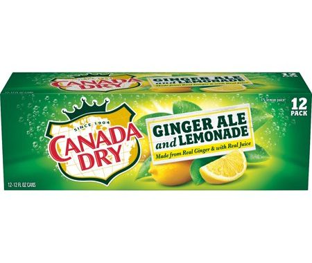 Save $0.75 off (1) Canada Dry Ginger Ale & Lemonade in Cans Coupon