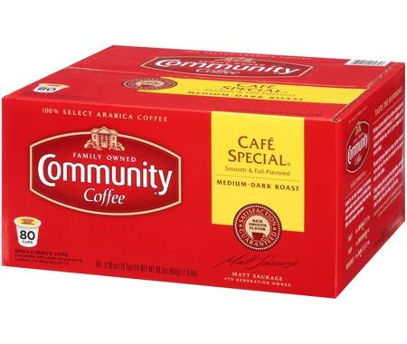 Save $4.50 off (1) Community Coffee Single Serve Pods Coupon