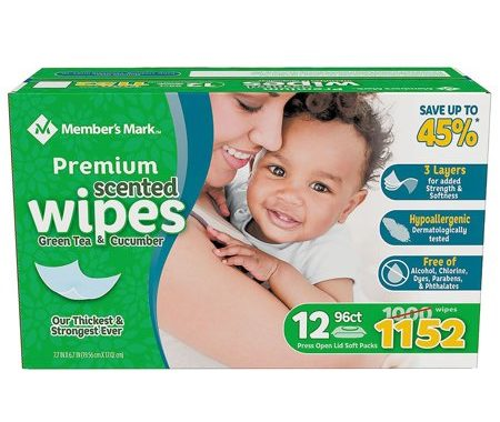 Save $3.00 off (1) Member's Mark Premium Scented Baby Wipes Coupon
