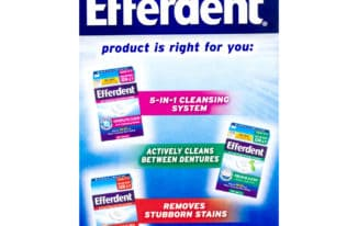 Save $0.75 off (1) Efferdent Denture Cleanser Coupon