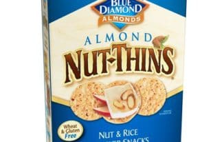 Save $0.75 off (1) Blue Diamond Nut Thins Coupon
