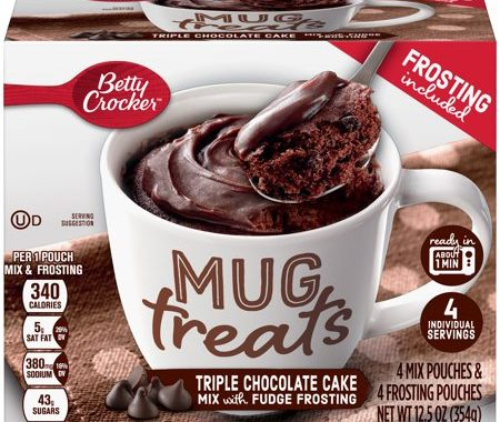 Save $1.00 off (1) Betty Crocker Mug Treats Printable Coupon