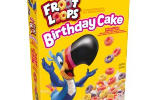 Save $0.50 off (1) Froot Loops Birthday Cake Cereal Coupon