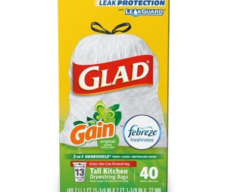 Save $1.00 off (1) Glad Kitchen Drawstring Trash Bags Coupon